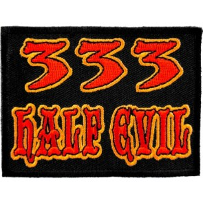 333 Half Evil Patch, Funny Embroidered Patches