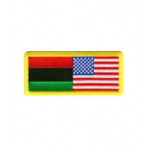 American & Afro-American Flag Patch, U.S. Flag Patches