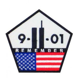 9-11 Remember U.S. Flag Pentagon Patch, Patriotic Patches