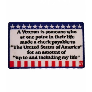 A Vet Is Someone Who U.S. Flag Patch, Military Patches