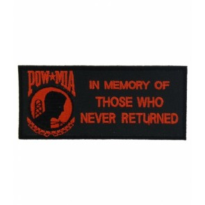POW In Memory of Those Red Patch, POW MIA Patches