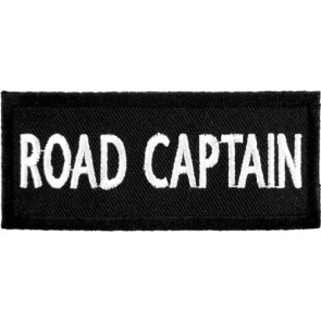 Road Captain Black & White Patch, Biker Club Patches