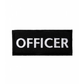 Officer Black & White Patch, Biker Club Patches
