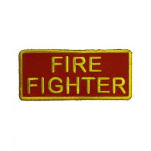 Firefighter Red & Yellow Patch, Firefighter Patches