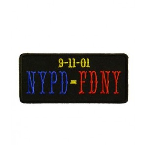 9-11 NYPD FDNY Patch, September 11 Patches