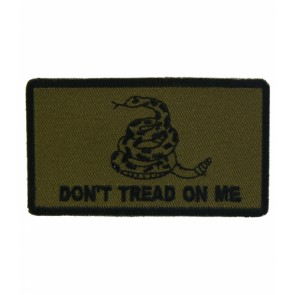 Gadsden Flag Green Patch, Don't Tread On Me Patches