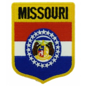 Missouri State Flag Shield Patch, 50 State Flag Patches