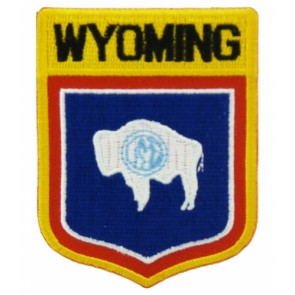 Wyoming State Flag Shield Patch, 50 State Flag Patches