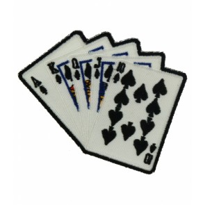 Royal Flush Poker Hand Patch, Playing Card Patches