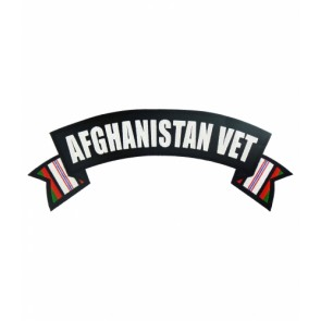 Afghanistan Vet Service Ribbons Rocker, Military Patches