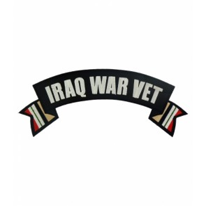 Iraq War Vet Service Ribbons Rocker, Military Patches