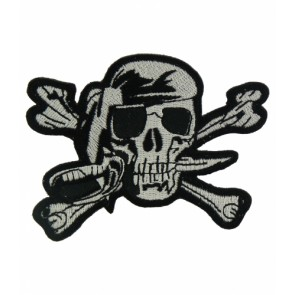 Pirate Skull Black & White Patch, Pirate Patches