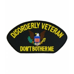 Disorderly Veteran Hat Patch, Military Cap Patches