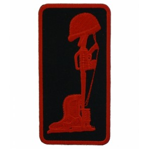 Fallen Heroes Red & Black Patch, Military Patches