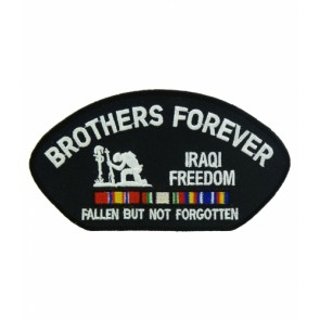 Brothers Forever Iraqi Freedom Hat Patch, Military Cap Patches