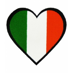 Irish Flag Heart Shaped Patch, Irish Pride Patches
