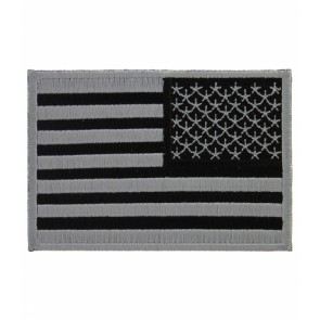 American Flag Grey Subdued Reversed Patch, U.S. Flag Patches
