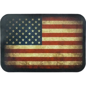 Worn & Distressed American Flag Soft Genuine Leather Patch