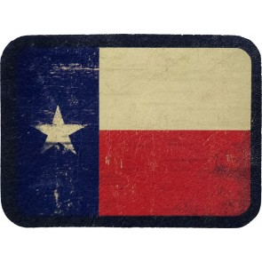 Red White & Blue Texas Lone Star State Flag Genuine Leather Patch