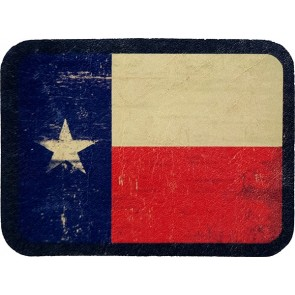 Distressed Texas Lone Star State Flag Genuine Leather Patch