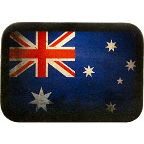 Worn Australian Flag Genuine Leather Patch