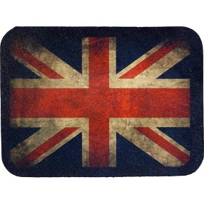 Worn British Union Jack Flag Genuine Leather Patch