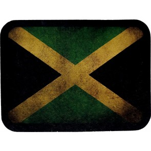 Worn & Distressed Jamaica Flag Genuine Leather Patch