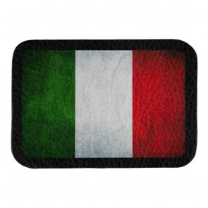 Worn In Distressed Italian Flag Genuine Leather Patch