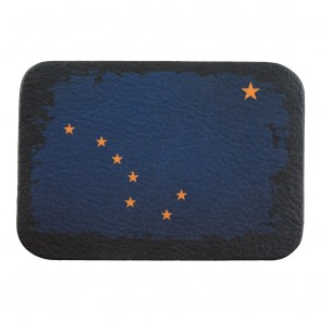 Alaska State Flag Soft Genuine Leather Patch