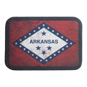 Arkansas State Flag Soft Genuine Leather Patch