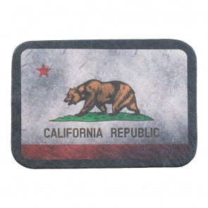 California State Flag Soft Genuine Leather Patch