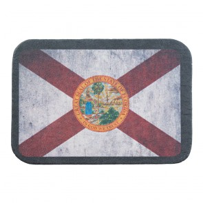 Red & White Florida State Flag Genuine Leather Patch
