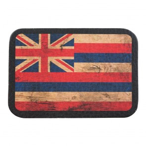 Red White & Blue Hawaii State Flag Genuine Leather Patch