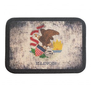 Illinois State Flag Soft Genuine Leather Patch