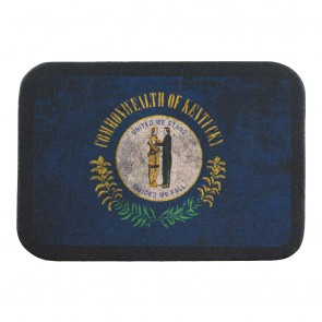 Blue Yellow & Green Kentucky State Flag Genuine Leather Patch