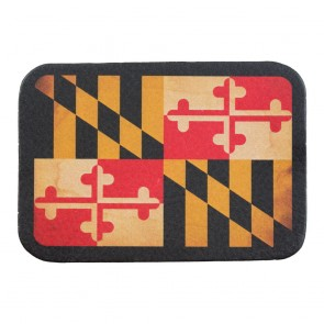 Maryland State Flag Genuine Leather Sew On Patch