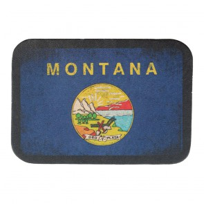 Montana State Flag Tan Leather Patch