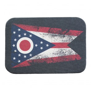 Red White & Blue Ohio State Flag Genuine Leather Patch