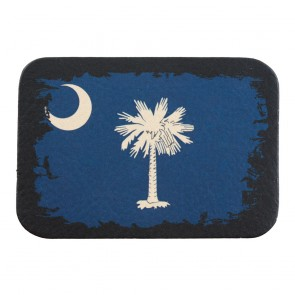 South Carolina State Flag Genuine Leather Sew On Patch