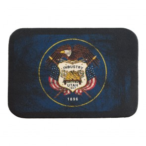 Utah State Flag Genuine Leather Sew On Patch