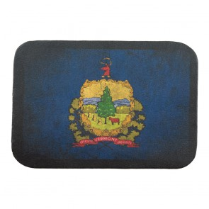 Vermont State Flag Genuine Leather Sew On Patch