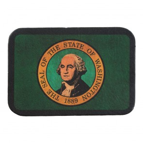 Evergreen State Flag Genuine Leather Patch