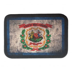 West Virginia State Flag Genuine Leather Sew On Patch