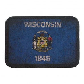 Wisconsin State Flag Soft Leather Patch