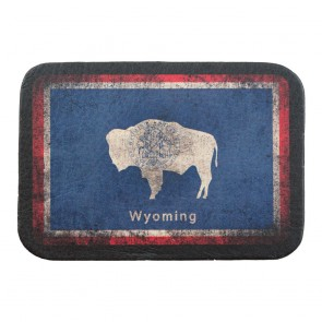 Red White & Blue Wyoming State Flag Genuine Leather Patch