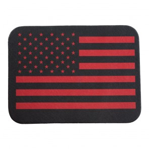 American Flag Red & Black Soft Leather Patch