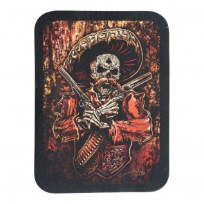 Mariachi Man Red Genuine Leather Patch