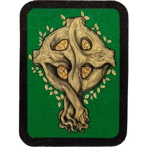 Infinite Tree Of Life With Leaves Celtic Cross Genuine Leather Patch