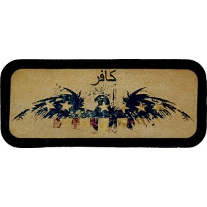 Infidel Red White Blue American Eagle Genuine Leather Patch