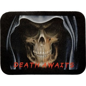 Death Awaits Grim Reaper Angel Of Death Genuine Leather Patch